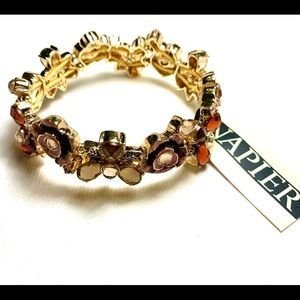 Floral Design Bracelet and Earrings by Napier
